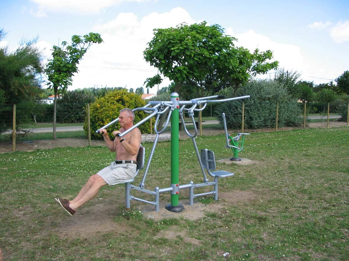 aire de fitness du camping